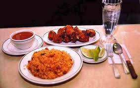The typic Dominican Dish Bandera Dominicana, besause of its 3 couls